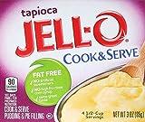 Jell-O Cook & Serve Fat Free Pudding & Pie Filling, Tapioca, 3 ct
