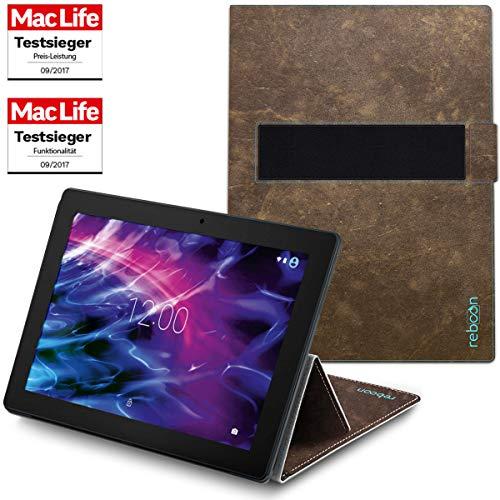 Hülle für Medion Lifetab P10356 Tasche Cover Case Bumper | Testsieger | Braun Wildleder