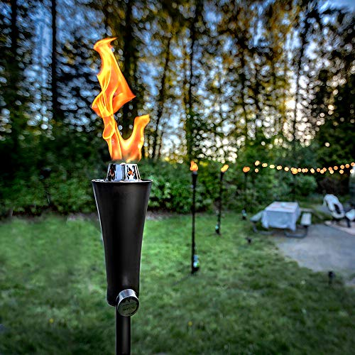 backyard torches 20lb Outdoor Propane Gas Tiki Style Torch - Easily Transform Your Place Into an Elegant Paradise with this Portable 71 inch Long Burning Torch Lighting That Will Compliment any Yard, Pathway, Backyard