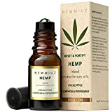 Head Ease Essential Oil Roll On Stick Natural Hemp Oil Blend - Peppermint Oil, Eucalyptus Oil, Camphor, Arnica & Frankincense Aromatherapy Therapeutic Grade Essential Oils Made in USA by NEW MIUZ