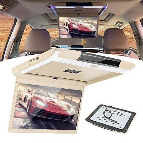 Monitor abatible Techo Montaje en techo Bluetooth TV WIFI HDMI USB SD F-M Transmisor MP5 Altavoz Pantalla capacitiva Ips de 12,5 pulgadas