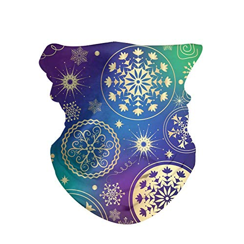 Pack de 2 diademas unisex impresas al aire libre Magic Bandana sin costuras, turbante banda para el pelo, accesorios para moda o deporte, yoga, senderismo y equitación, color Colorido degradado navideño., tamaño 50 CM x 25 CM