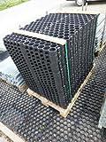 Rasenwabe / Paddockplatte / Rasengitter 50 x 40 cm in schwarz 100 Stück/Palette