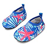 JIASUQI Baby Outdoor and Indoor Slip on Beach Walking Water Shoes for Swim River Pool,Blue White 6-12 Months