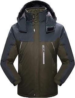 XINHEO Men Winter Windproof Waterproof Hood Fleece Warm Outdoor Jacket