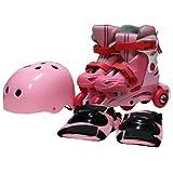 イージーインライン Sサイズ ピュアピンク ヘルメット・プロテクター付
