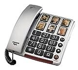 amplicomms BIGTel 40 plus, Großtastentelefon, silber