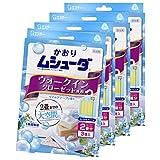 【まとめ買い】かおりムシューダ 1年間有効 防虫剤 ウォークインクローゼット専用 3個入 マイルドソープの香り×4個
