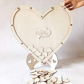 Guest Book, DIY Frame Heart Shape Guest Book Box, for Wedding, Anniversary, Birthday Party,etc