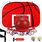 Jnyyjc Indoor basketball hoop Adults Kids Mini Basketball Hoop Children Indoor Ball Sport Game Backboard Rim Drill-free Wall Mounted Window Door Hanging (Color : Red)