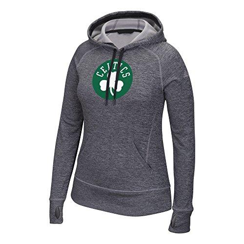 Sudadera con capucha de tela polar para mujer con logotipo de equipo de la NBA. - 405FW PYHW, Large, Gris
