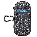 KAVU Solar Flare Backpack, Black Topo, One Size