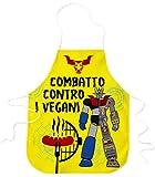 STAMPATEK Grembiule Divertente Barbecue Combatto Contro i Vegani Cucina Grigliare Grembiuli Idea Regalo BBQ