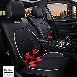 Muchkey - Set completo di coprisedili per auto, in pelle, per tutte le stagioni, impermeabile, per Toyota Avensis GT86 Land Cruiser, accessori interni auto, stile C, colore: nero/rosso