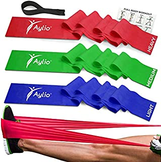 Premium Exercise Bands and Door Anchor | Fitness, Physical Therapy, Pilates Workout, Stretch | 6 Feet Long