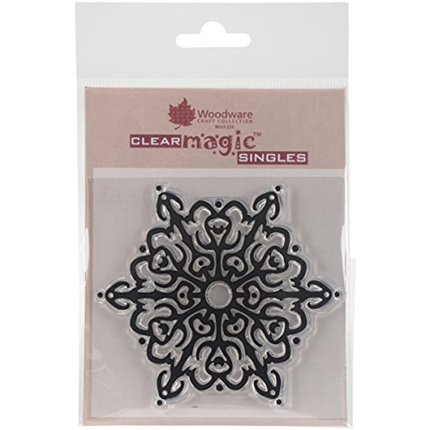 Woodware Craft Collection Nordic Snowflake Stamp Sheet, 3.5