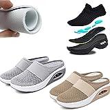 Air Cushion Slip-On Zapatos para Caminar Zapatos para Caminar diabéticos ortopédicos, Zapatillas de Deporte para Caminar al Aire Libre (Gris, 4.5)
