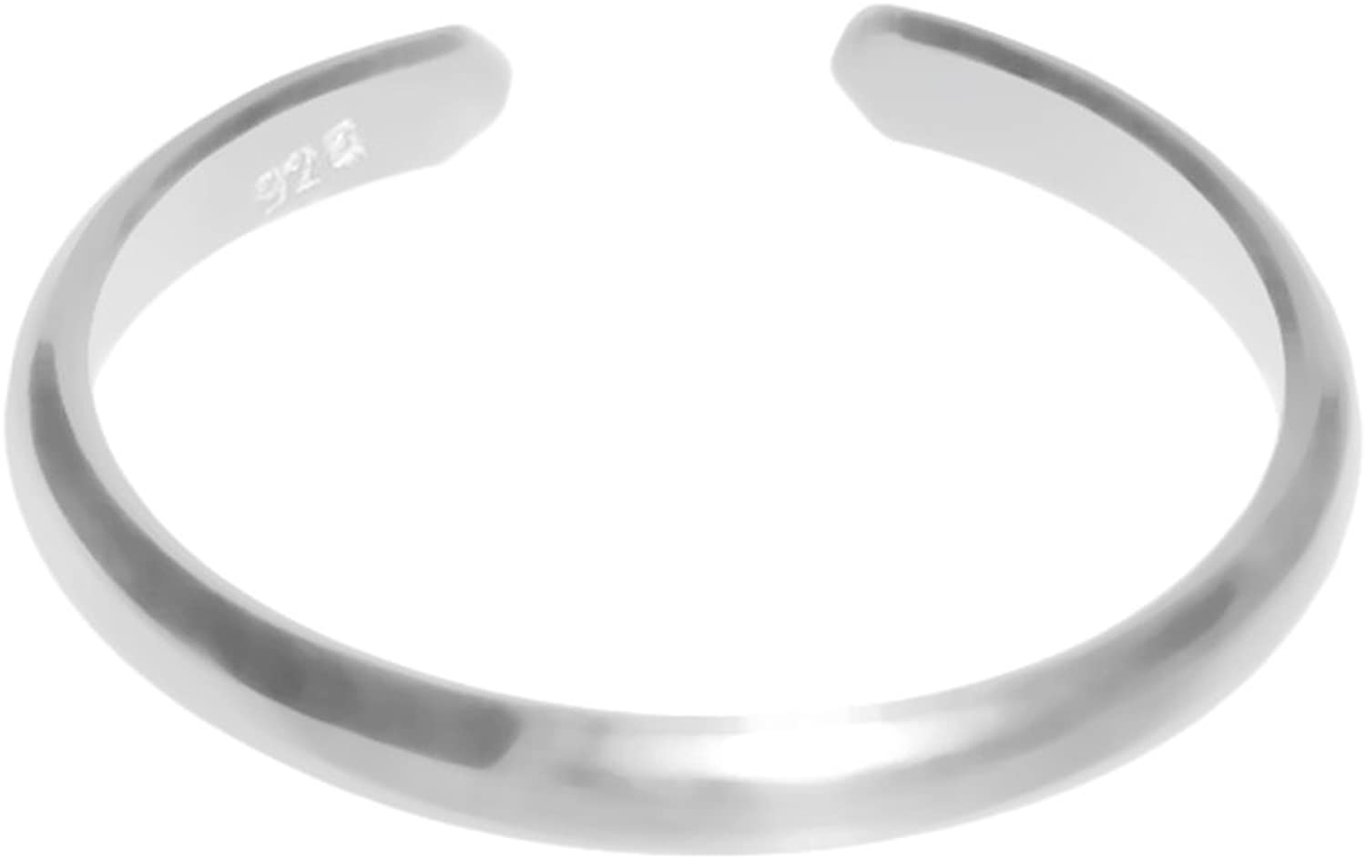 Sales Denver Mall XOandQuin 925 Sterling Silver Adjustable Toe Band Ring 3mm Plain
