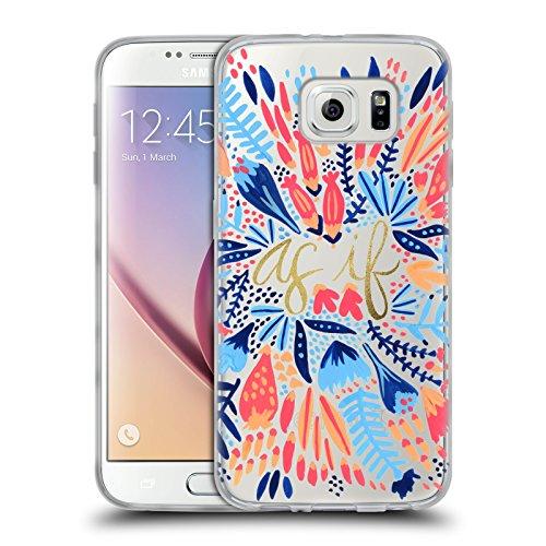 Head Case Designs Oficial Cat Coquillette Multi Blanco como si Diseños Mixtos Carcasa de Gel de Silicona Compatible con Samsung Galaxy S6