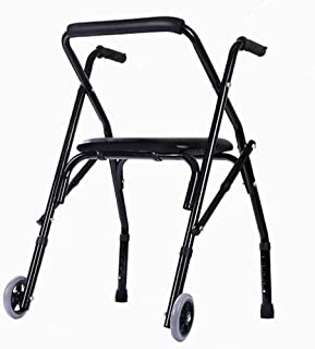 Walker For Seniors Rollator Rollator Walker Mobility Aid Walking Frame With Padded Seat And Wheels Lightweight Foldable Wa...