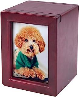 Silipax Pet Wood Urn, Pet Urn Peaceful Pet Memorial Keepsake Urn, Photo Box Pet Cremation Urn, Dog Urn, Cat Urn