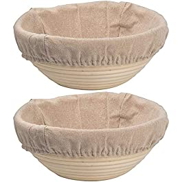 Doylla Banneton rond en rotin avec doublure 8.5»(only basket & liner) beige