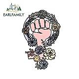 OLUYNG Sticker de Carro 13 cm x 8,6 cm para símbolo de Cuerpo de Flor Feminista para Pegatinas de Coche calcomanía de Graffiti DIY Accesorios de Coche decoraciónEstilo aPrueba de arañazosA