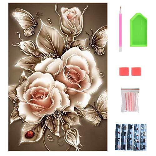 DIY Diamond Painting Kit Completo, Punto de Cruz Diamante para Adultos Mujer, Cuadro Pintar con Numeros, Artesanías Recreativas, Regalo para Familiares y amigos, Cuadro Diamantes 5d 40 x 30cm.