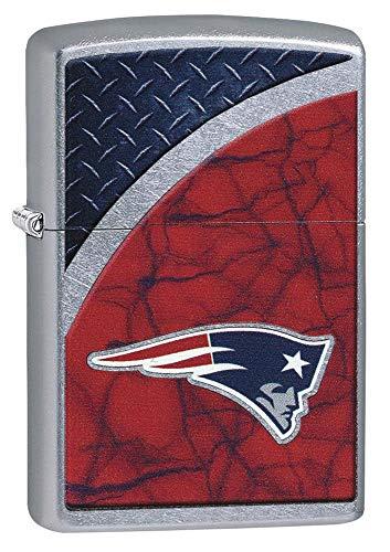 Zippo NFL New England Patriots Street Chrome Pocket Lighter, One Size