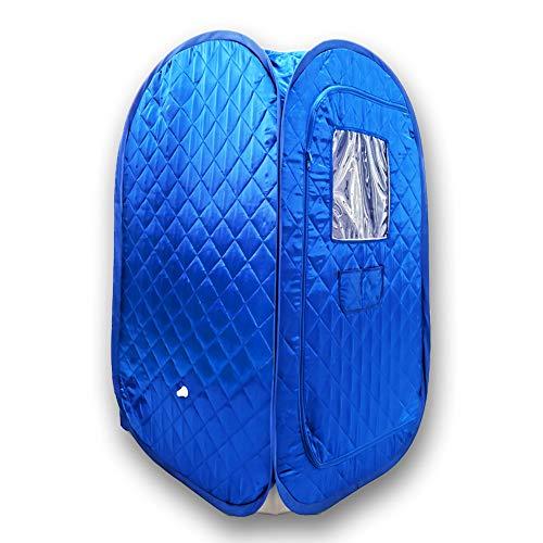 Tragbares Sauna-Zelt, faltbar, Ganzkörper-Spa für Gewichtsverlust, Detox-Therapie ohne Dampfgarer blau