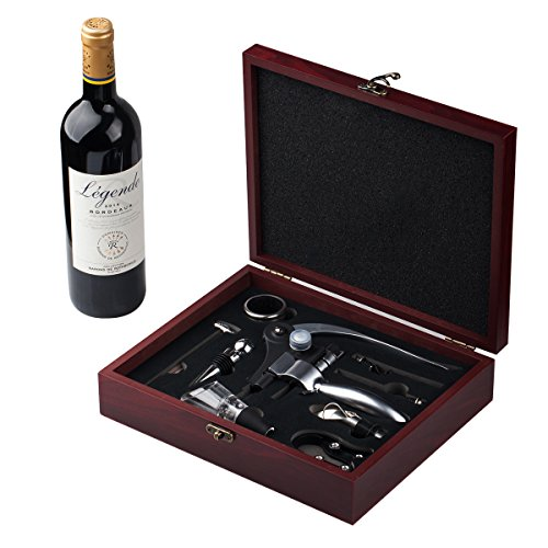 Cooko Wine Opener Set, Manual Wine Bottle Opener Kit with Aerator, Pourer, Zinc Alloy Handle...