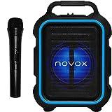 Novox Mobilite Blue - Altavoz activo USB/MP3/BT, batería, micrófono