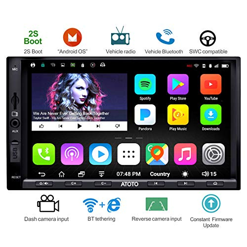 ATOTO A6 Double Din Android Car Navigation Stereo with Dual Bluetooth -...