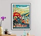 Bilbao Las Playas Del Abra, Spain Vintage Travel Poster -