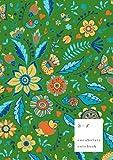 A-Z Vocabulary Notebook: B5 Medium Journal 2 Columns with Alphabet Index | Fancy Animal Floral Cover Design | Green
