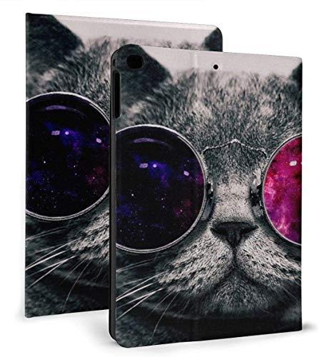 Cara de Gato Gafas de Sol Estuche Inteligente de Cuero PU Función de Reposo / Despertar automático para iPad Air 1/2 Estuche de 9,7 '