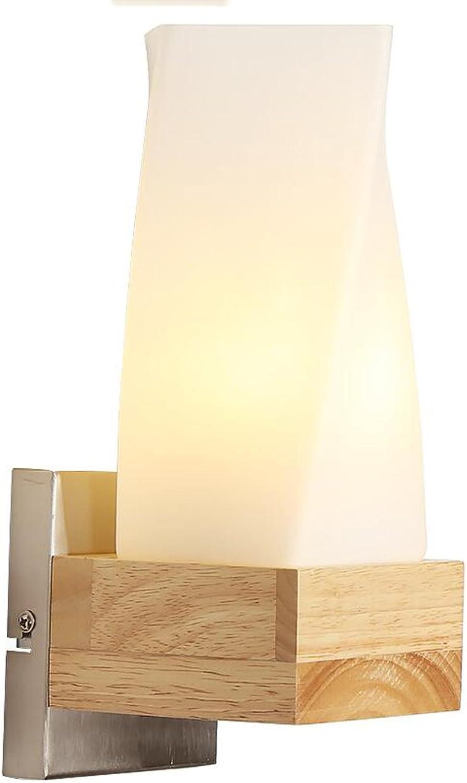 CKH Kreative Massivholz Schlafzimmer Nachttischlampe Moderne Minimalistische Mode Nordic Wohnzimmer Wand Japanische Stil Holz Wandleuchte