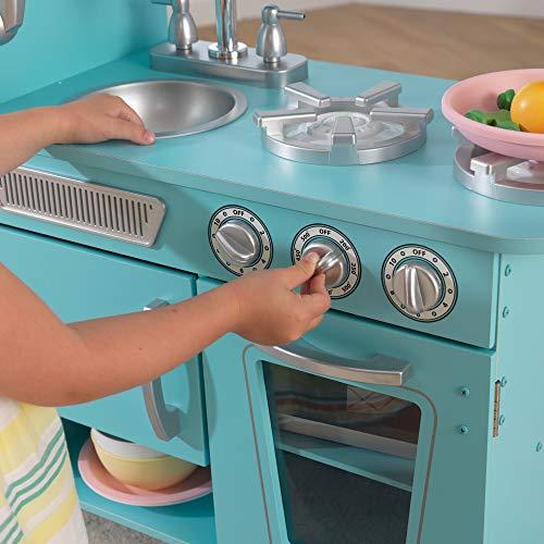 KidKraft Vintage Kitchen is the best wooden play kitchen for smaller kids