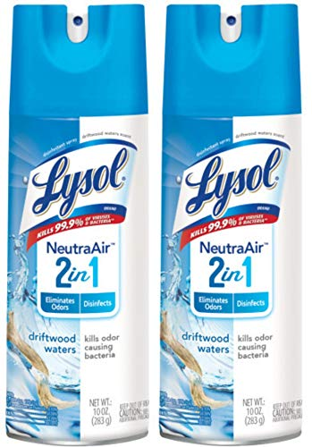 Lysol Disinfectant Spray - Neutra Air? Driftwood Waters 10 oz (Pack of 2)