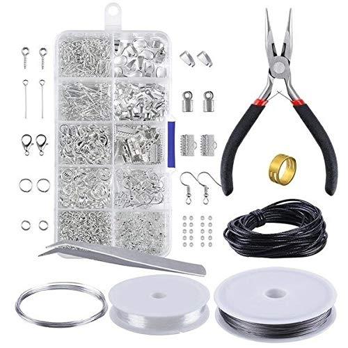 Kit de herramientas de iniciación para hacer joyas, pulseras, collares y anillos de salto, 5 unidades