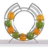 DESIGN DELIGHTS DEKORATIVER FRÜCHTEKORB Circle | 40 cm, Metall, Silber | Obsthalter, Fruchtspender - 2