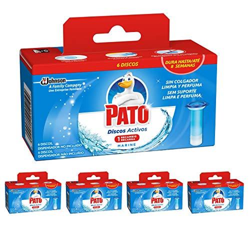 Pato - Discos Activos WC Recambio Marine, recambio con 6 discos, [Pack de 5]