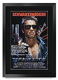 HWC Trading Terminator A3 Enmarcado Regalo De Visualización De Fotos De Impresión De Imagen Impresa Autógrafo Firmado por Arnold Schwarzenegger Los Aficionados Al Cine