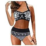 Bikini Cintura Alta Mujer 2021 Conjunto Brasileños Sujetador,Traje de BañO Sexy para Bañador Playa Sets Talla Grande Bikinis Push up BañO Estampado BañAdores con Relleno Tops y Braguitas Ropa