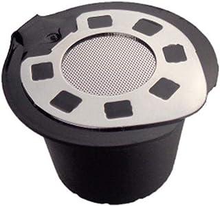 Dough.Q - Cápsulas de café rellenables de Acero Inoxidable para Rellenar (5 Unidades) - Cápsula Reutilizable para los Amantes del café - Compatible con Nespresso y Soporte para cápsulas
