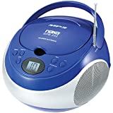NAXA Electronics NPB-252 Portable MP3/CD Player with AM/FM Stereo Radio (Blue)