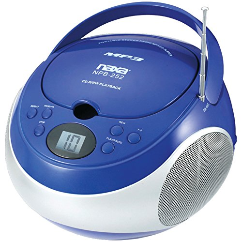 NAXA Electronics Portable Player with AM/FM Stereo Radio