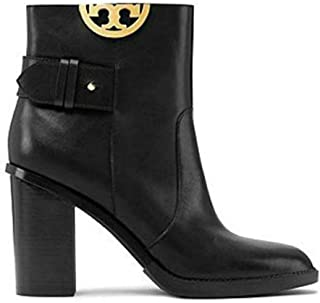 0e420d060 Tory Burch Black Sidney 85MM Heel Boots Booties Leather Shoes 50960