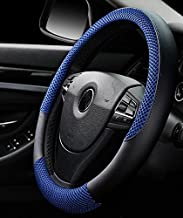 ISTN Men's Anti-Skid Breathable Ice Silk Steering Wheel Cover Blue