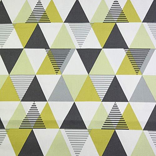 McAlister Textiles Tessuto al Metro per Cucito Vita   Eleganti Decorazioni per la Casa 100% Cotone   Motivo Geometrico Scandinavo   Giallo Ocra   Misura al Mezzo Metro 50x140cm